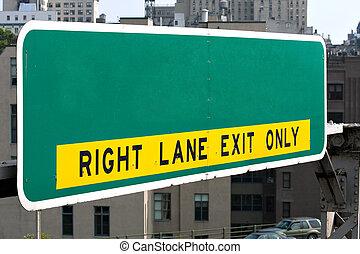 Empty Highway Sign