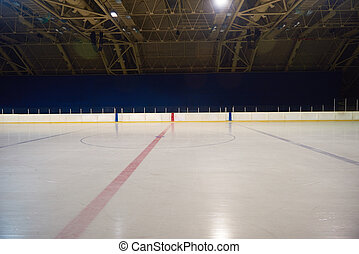 empty ice rink, hockey arena - empty ice rink, hockey and...