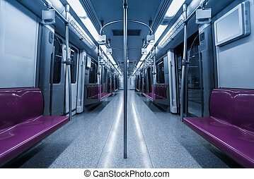 empty inside subway car