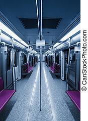 empty inside subway car