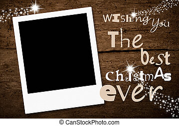 Empty instant photo frame Christmas card - Christmas...