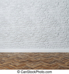 Empty Interior - Brick Wall