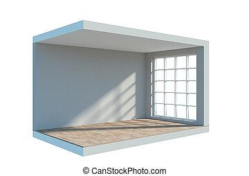 Empty interior cam - Abstract mini empty interior cam on...