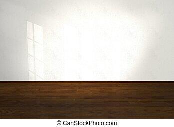 Empty interior, interior, living room