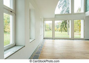 Empty interior of the new house, horizontal