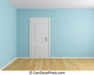 Empty interior room with door
