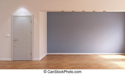 Empty interior room