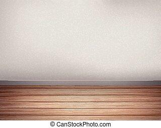 empty interior wall with wooden floor