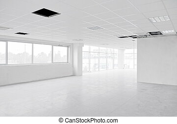 Empty interior white office