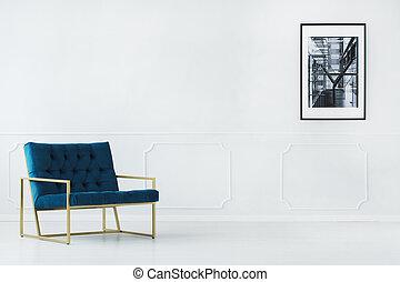 Empty interior with armchair