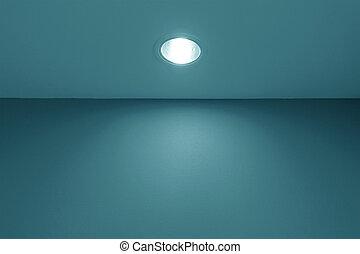 Empty interior with spot light