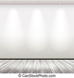 Empty interior with white wall