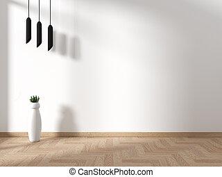 Empty Japanese room interior-zen style. 3d rendering