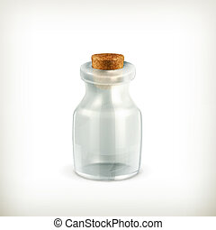 Empty jar, vector icon