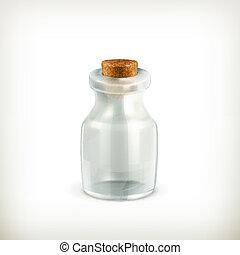 Empty jar, vector icon