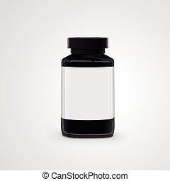 empty jar with label
