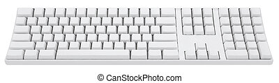 empty 3d keyboard without word on it
