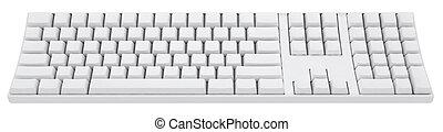 empty keyboard - empty 3d keyboard without word on it