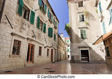 Empty Kotor Street