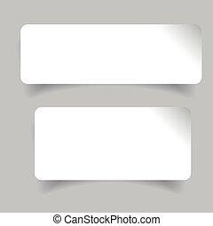 Empty label stickers set