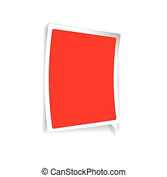 Empty label vector red