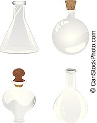 Empty laboratory flask - Glass empty bottle, laboratory...