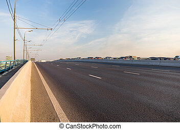 Empty lanes on highway