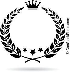 Empty laurel border vector icon
