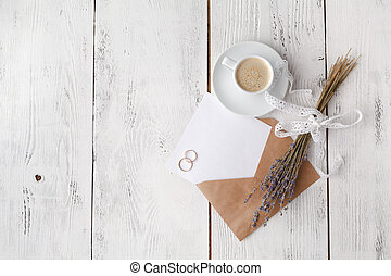Empty letter with craft envelope
