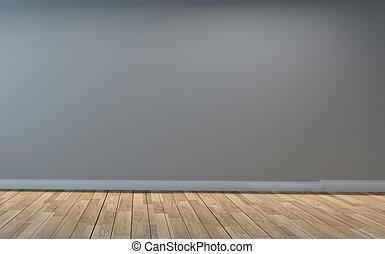 Empty living room interior. 3D rendering
