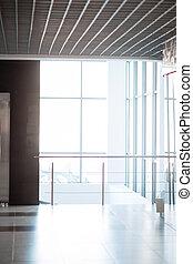 empty lobby in a modern city building
