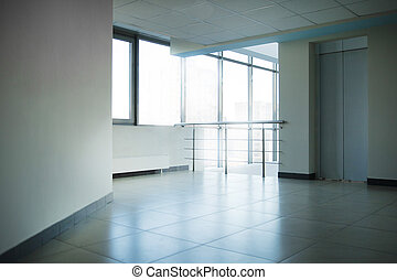 empty lobby in a modern office building.