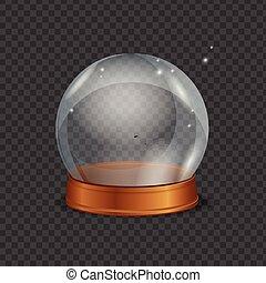 Empty Magic Crystal Ball. Vector