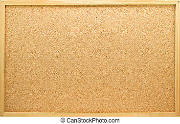 Empty memo board in closeup can be used for messages