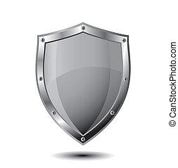 Empty metal shield  - EPS 10