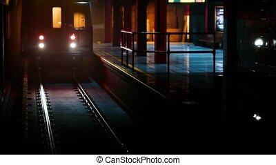 empty metro station during the coronavirus covid-19 pandemic