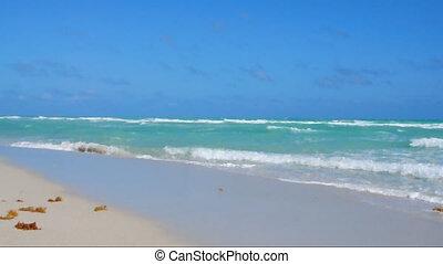 Empty Miami Beach on a sunny morning
