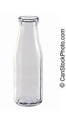 Empty Milk bottle isolated