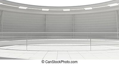 Empty modern futuristic room