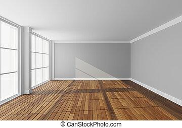 Empty modern hall