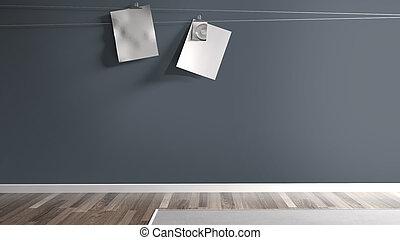 Empty modern interior . 3D rendering