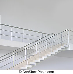Empty modern office stairs
