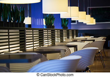 Empty modern restaurant interior