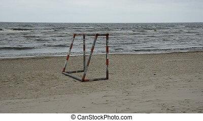 empty morning sea beach