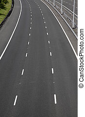empty motorway lanes near cheslyn hay staffordshire uk