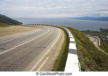 Empty mountain road.