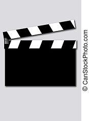 empty  movie clapper - movie clapper