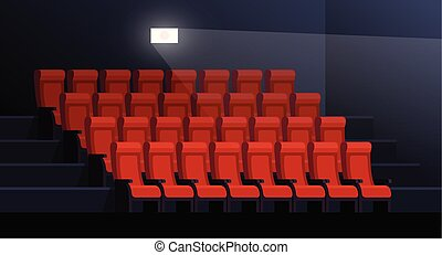 Empty Movie Theater Empty Cartoon Movie Theater With Blank Screen