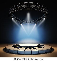 Empty music stage.