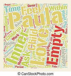 Empty Nest Syndrome text background wordcloud concept
